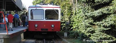 Budapest. Public Transport. Cogwheel Railway